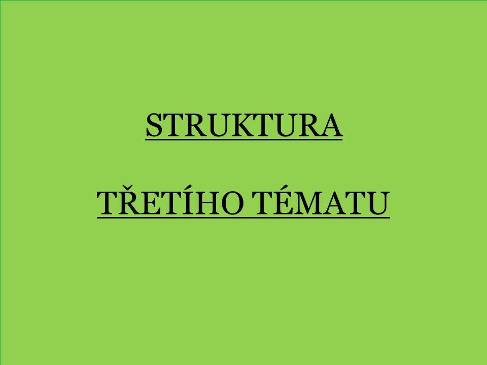 Struktura třetího tématu