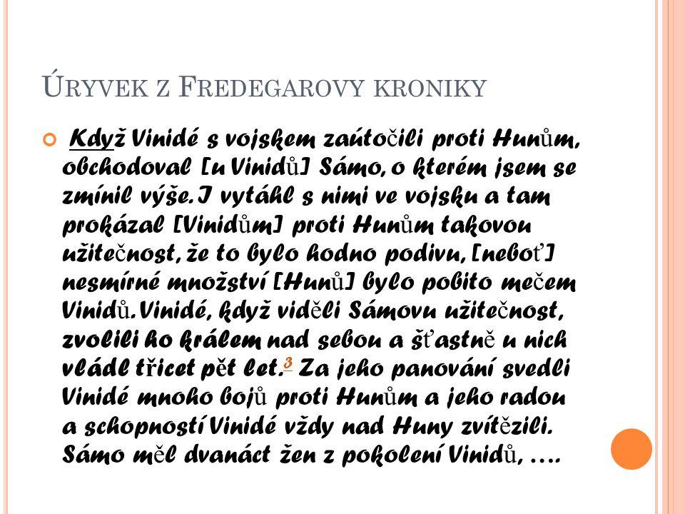 Úryvek z Fredegarovy kroniky