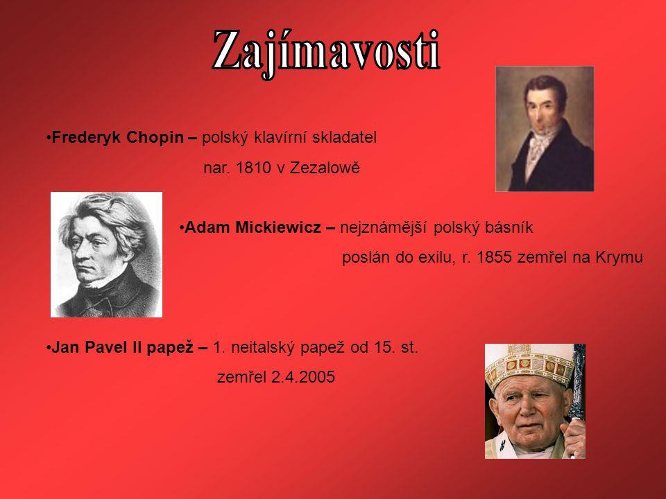 Zajímavosti Frederyk Chopin – polský klavírní skladatel
