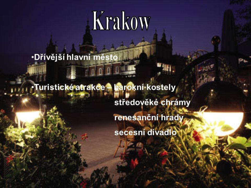 Krakow Dřívější hlavní město Turistické atrakce – barokní kostely