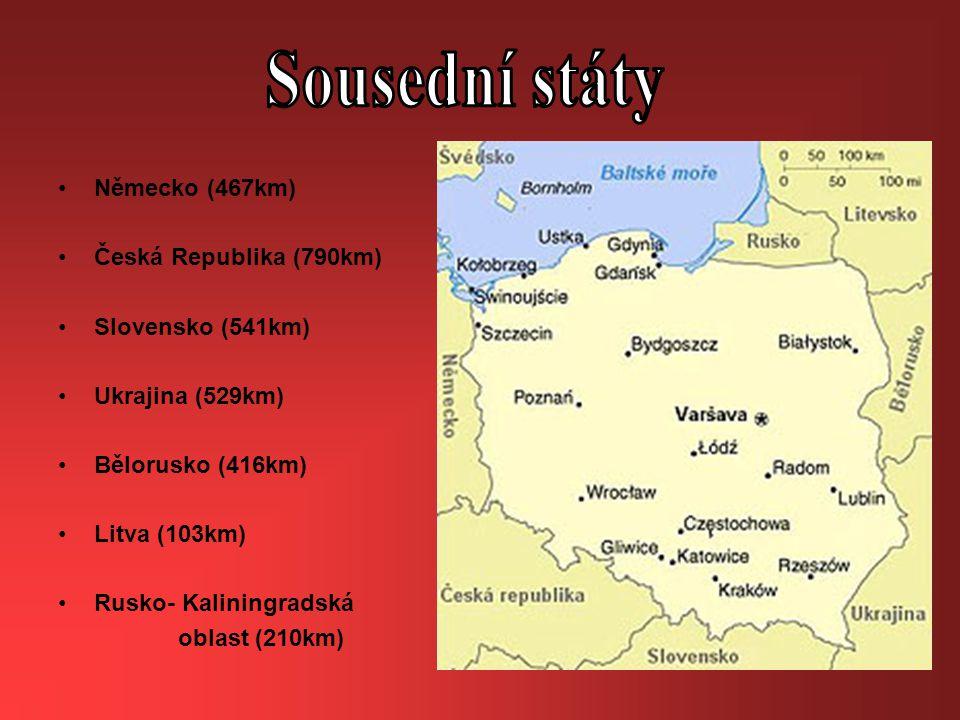 Sousední státy Německo (467km) Česká Republika (790km)