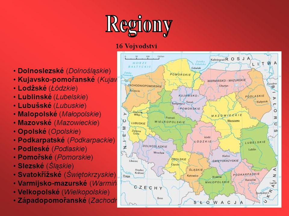 Regiony 16 Vojvodství Dolnoslezské (Dolnośląskie)