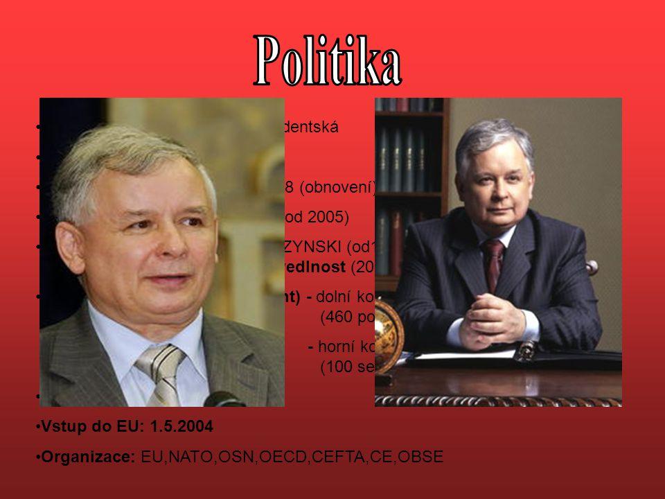 Politika Forma vlády: parlamentně prezidentská