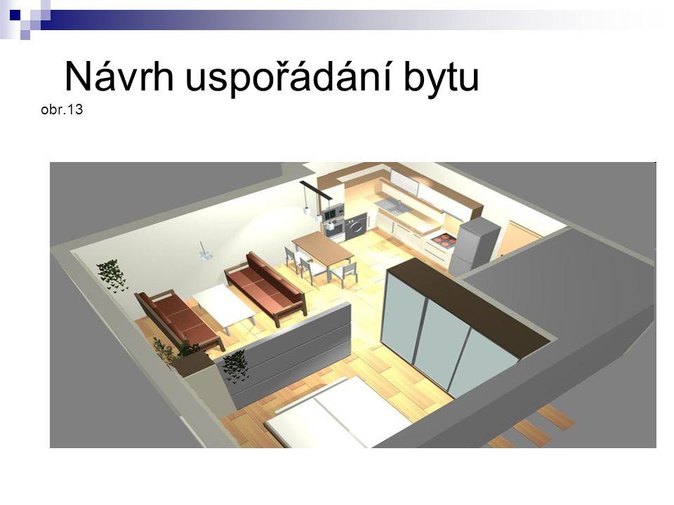 Návrh uspořádání bytu obr.13