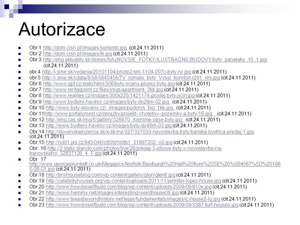 Autorizace Obr.1 http://dom.cisn.pl/images/sorrento.jpg (cit.24.11.2011) Obr.2 http://dom.cisn.pl/images/lk.jpg (cit.24.11.2011)