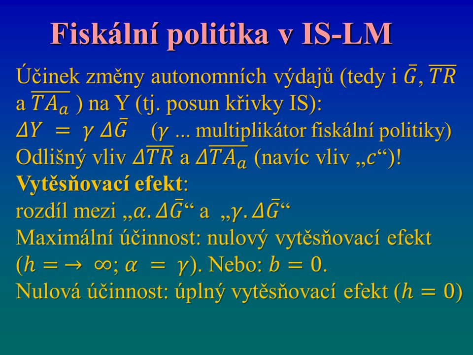 Fiskální politika v IS-LM