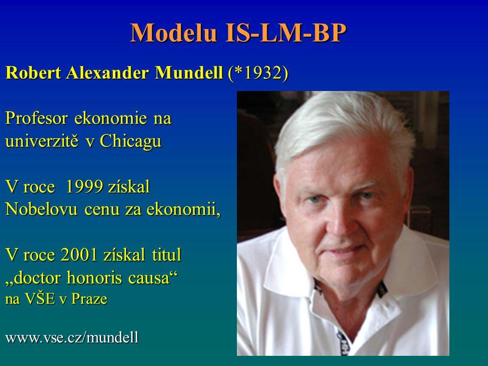 Modelu IS-LM-BP Robert Alexander Mundell (*1932) Profesor ekonomie na