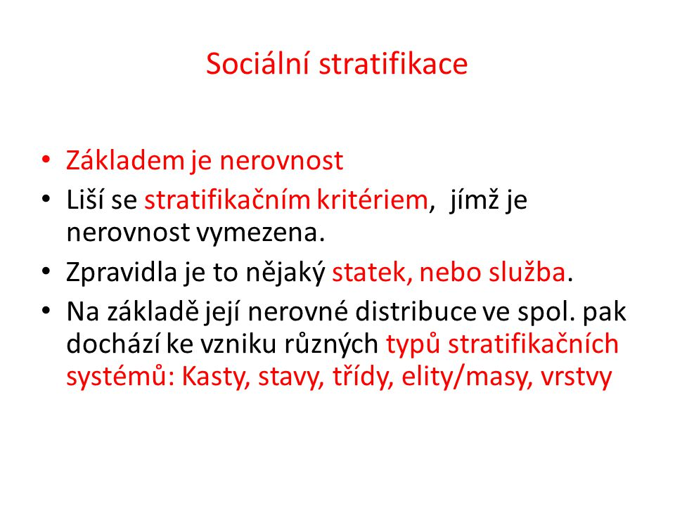 Sociální stratifikace