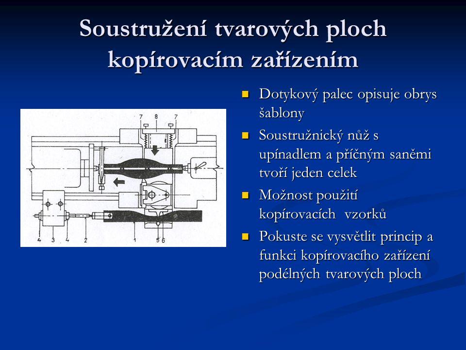 Soustružení tvarových ploch kopírovacím zařízením