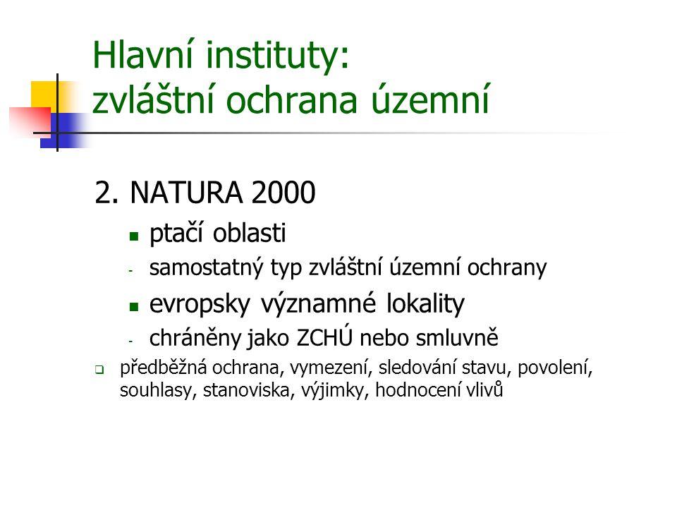 Hlavní instituty: zvláštní ochrana územní