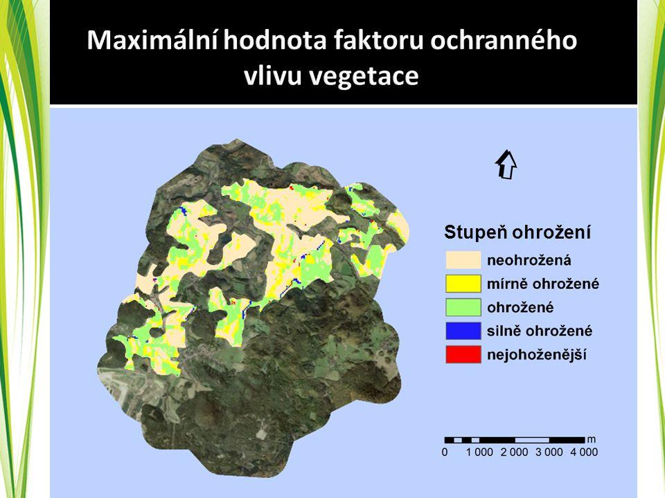 Maximální hodnota faktoru ochranného vlivu vegetace