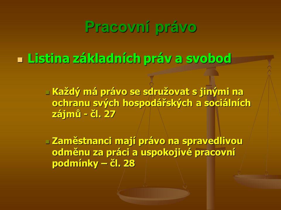 Pracovní právo Listina základních práv a svobod