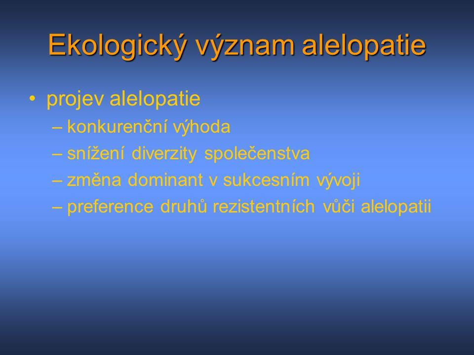 Ekologický význam alelopatie