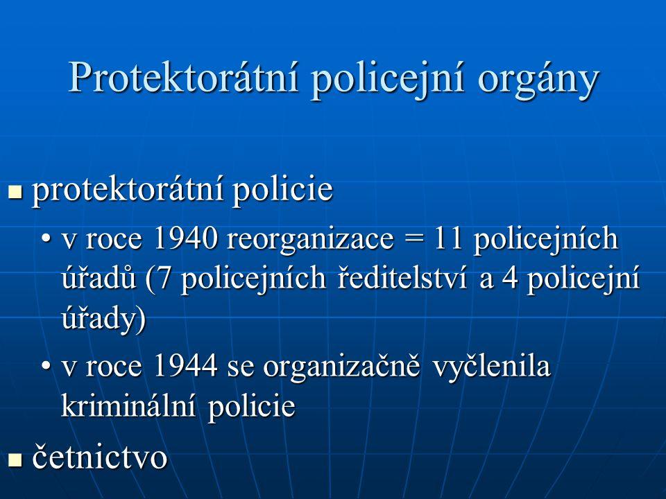 Protektorátní policejní orgány