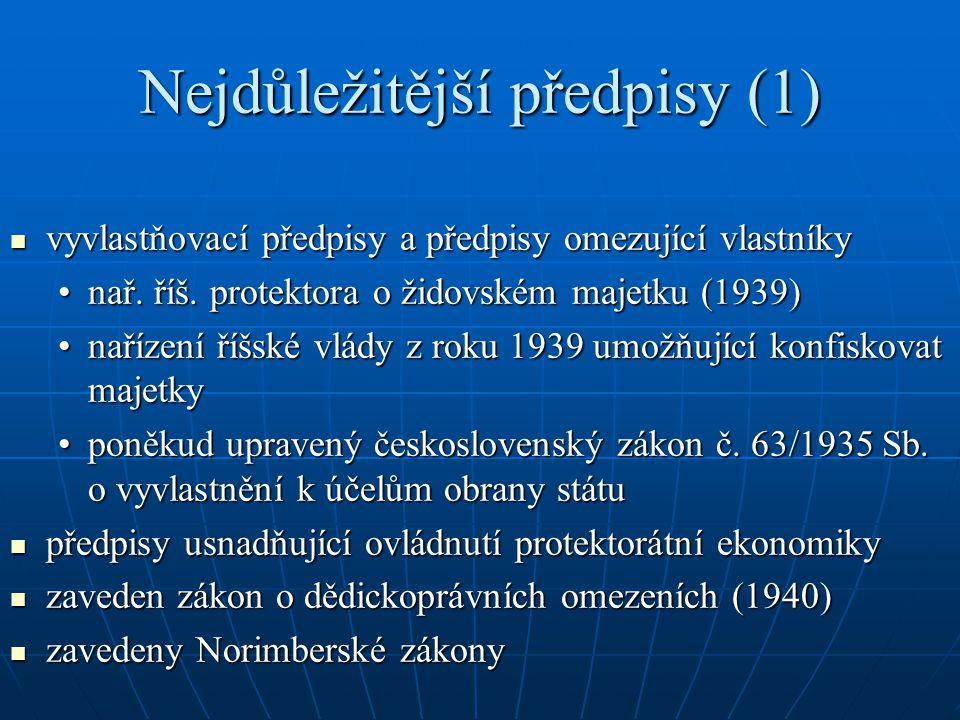 Nejdůležitější předpisy (1)