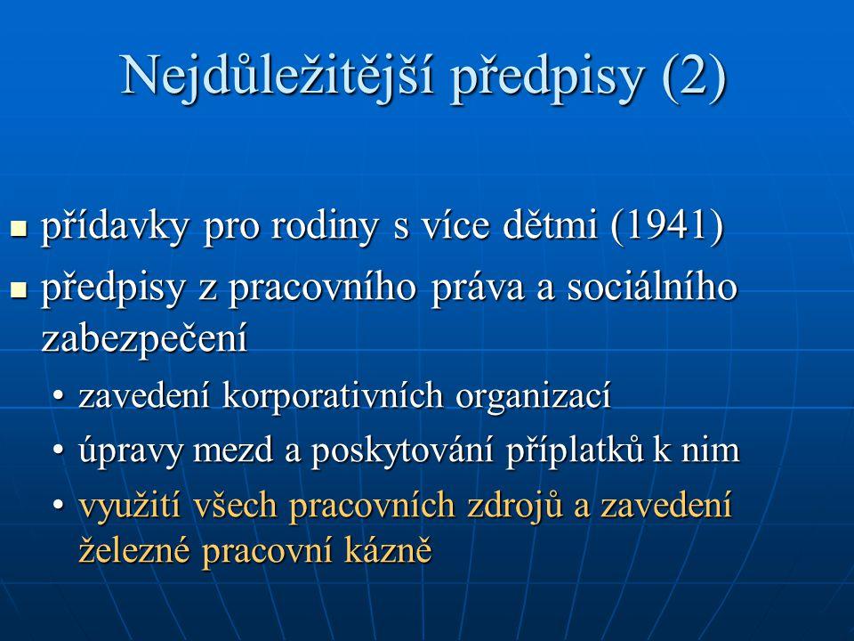 Nejdůležitější předpisy (2)