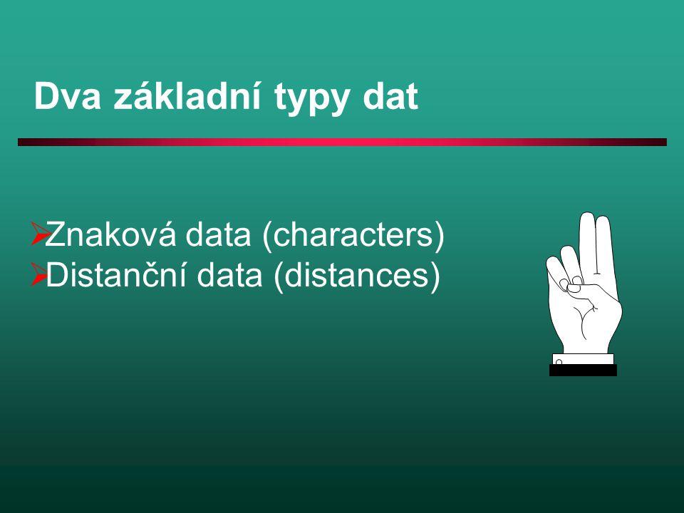 Dva základní typy dat Znaková data (characters)