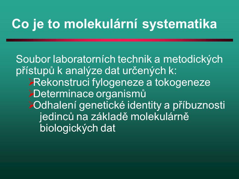 Co je to molekulární systematika