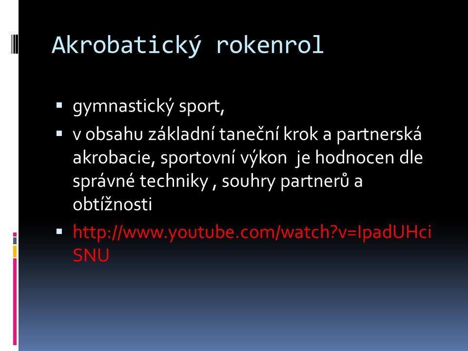 Akrobatický rokenrol gymnastický sport,