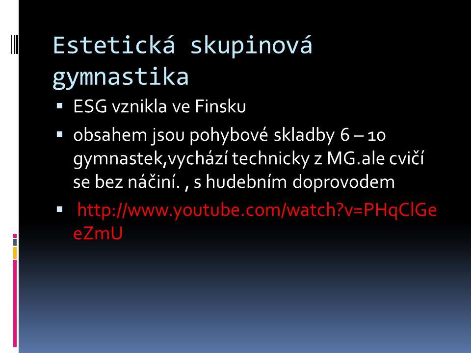 Estetická skupinová gymnastika