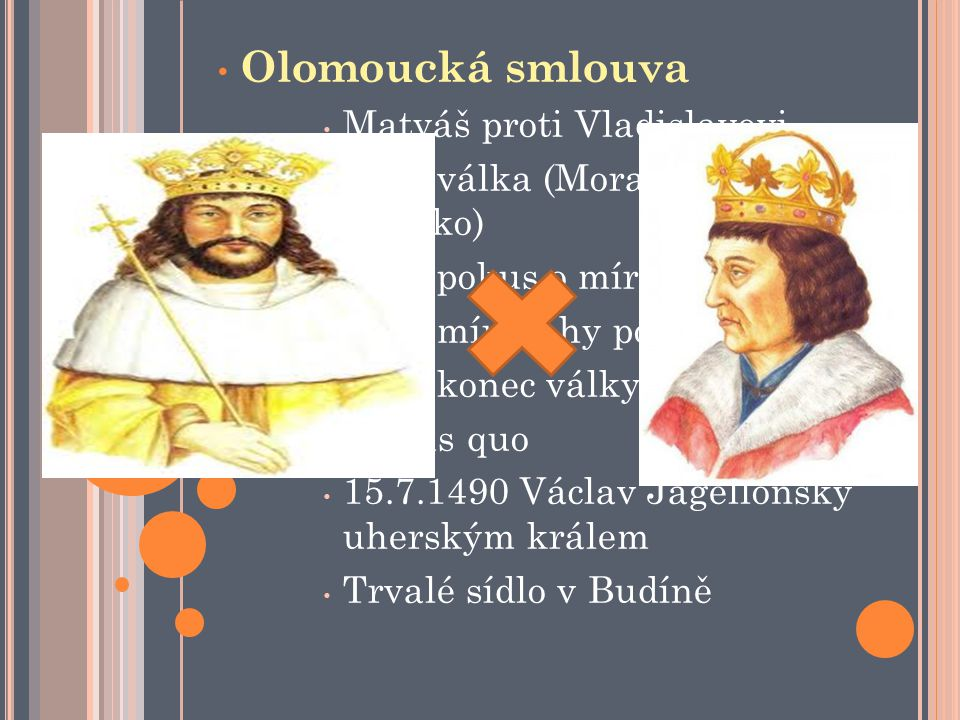 Olomoucká smlouva Matyáš proti Vladislavovi