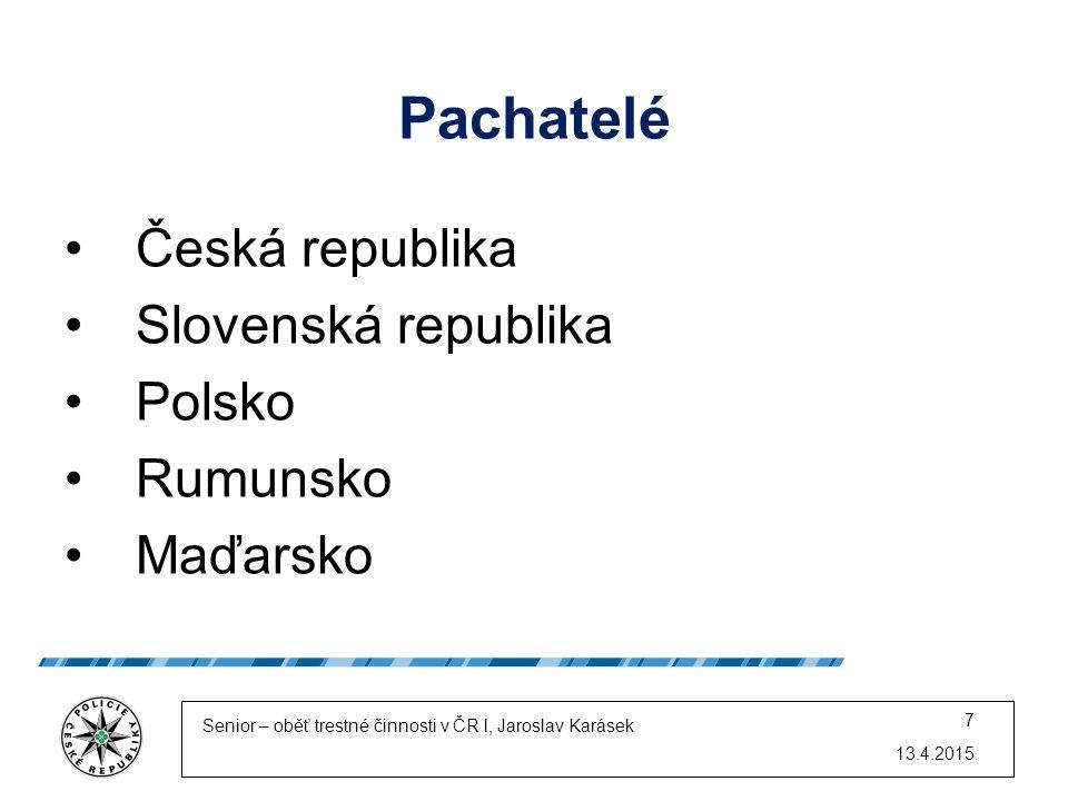 Pachatelé Česká republika Slovenská republika Polsko Rumunsko Maďarsko