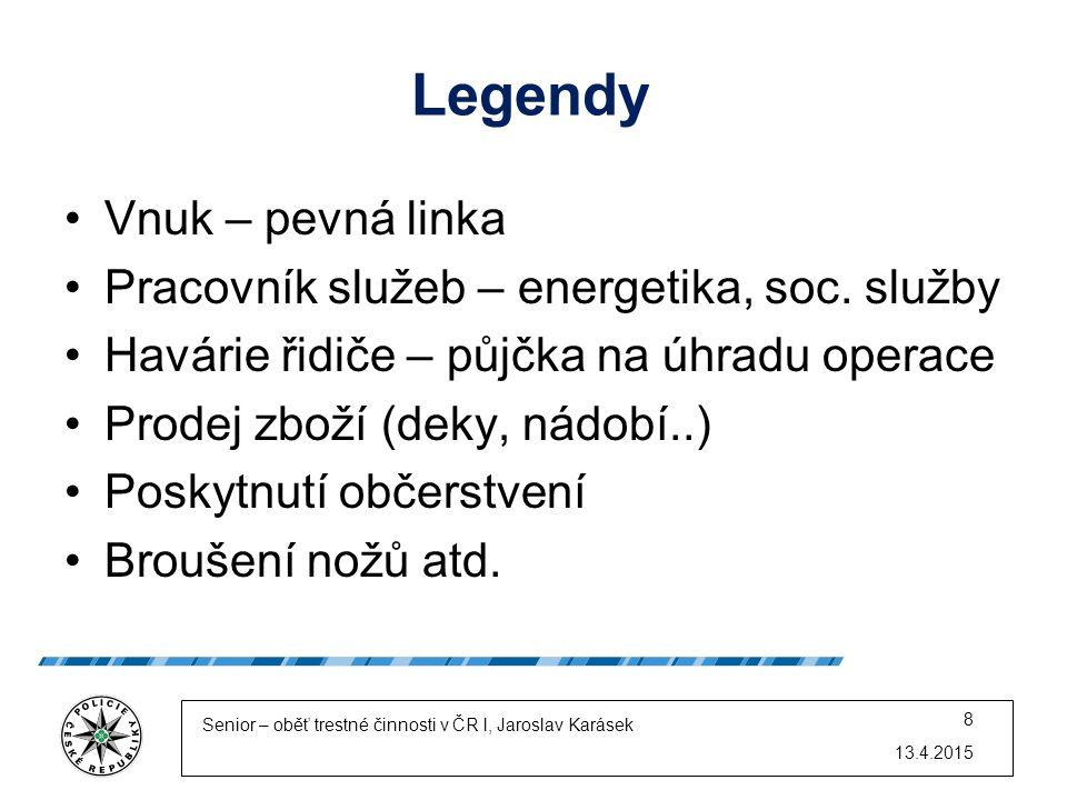 Legendy Vnuk – pevná linka Pracovník služeb – energetika, soc. služby