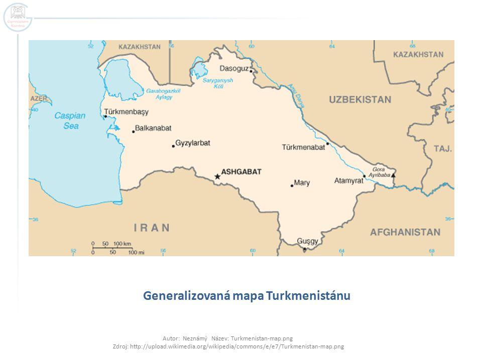 Generalizovaná mapa Turkmenistánu