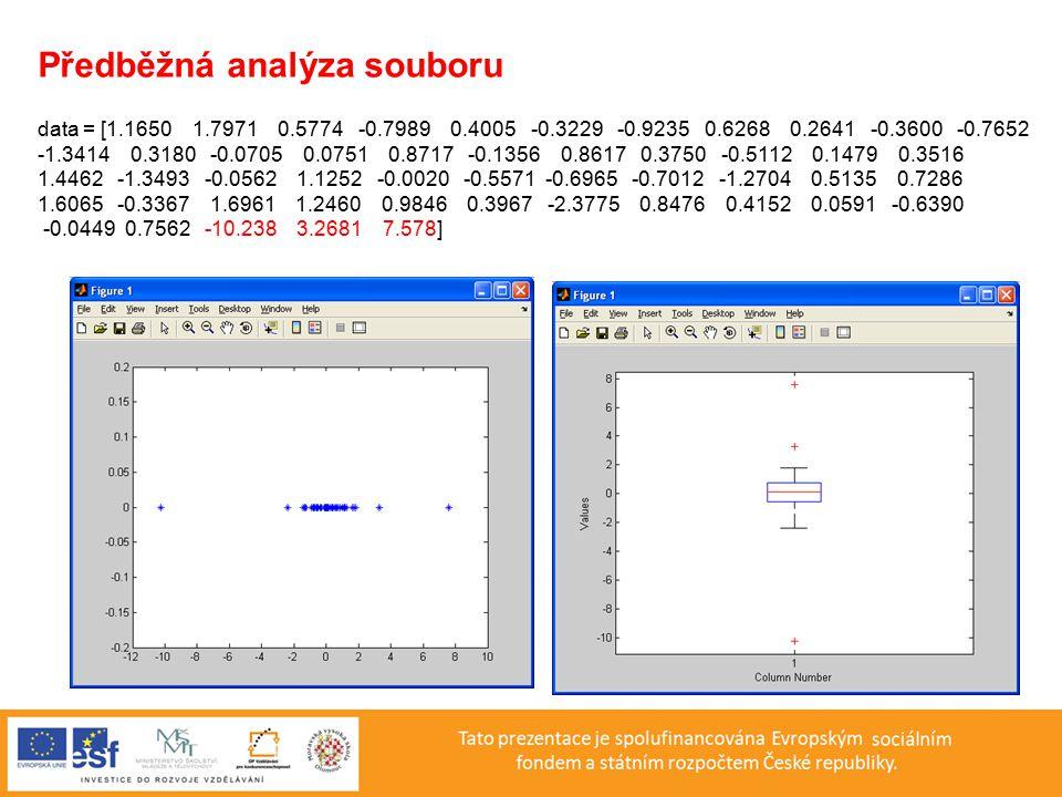 Předběžná analýza souboru