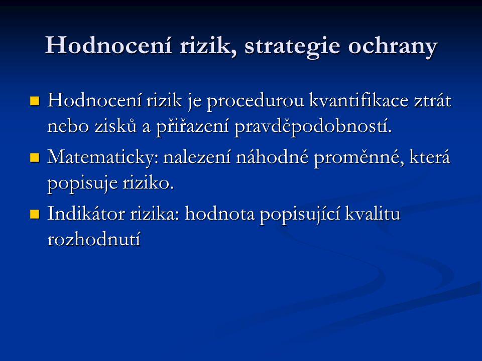 Hodnocení rizik, strategie ochrany