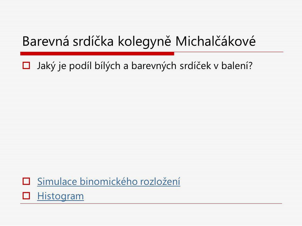 Barevná srdíčka kolegyně Michalčákové