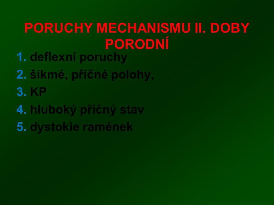 PORUCHY MECHANISMU II. DOBY PORODNÍ