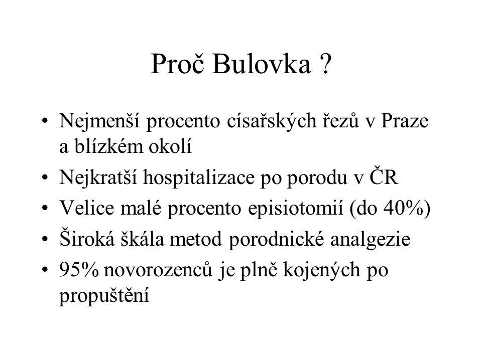 Proč Bulovka Nejmenší procento císařských řezů v Praze a blízkém okolí. Nejkratší hospitalizace po porodu v ČR.