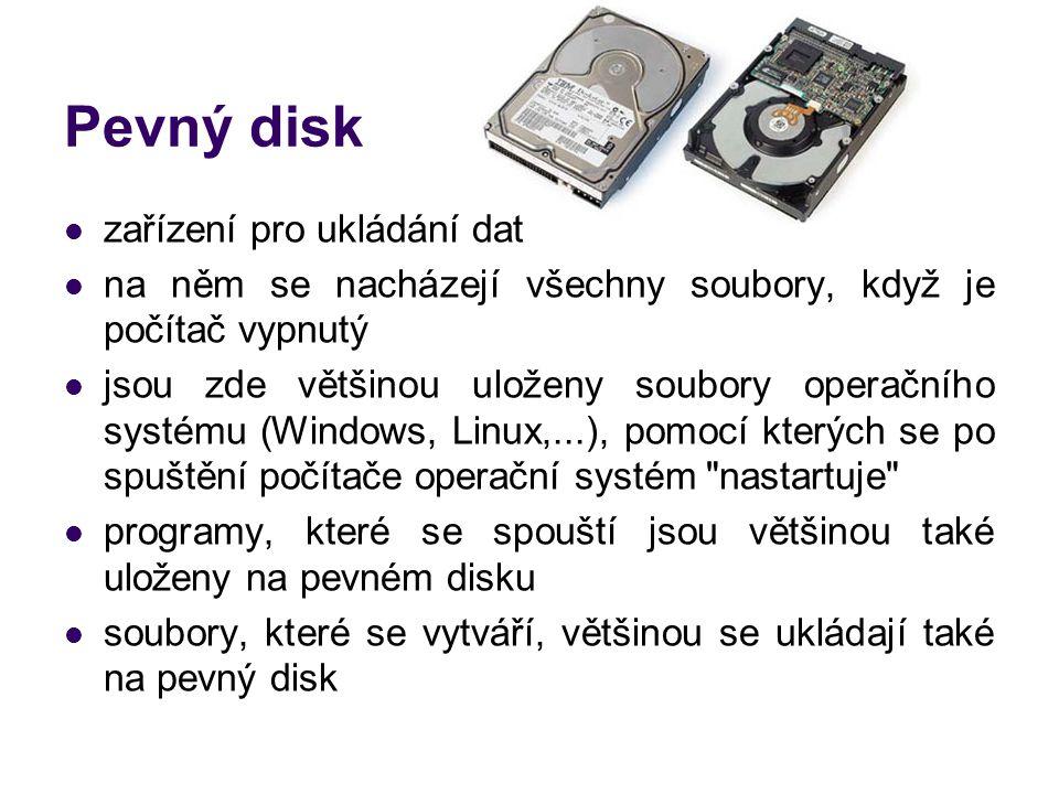 Pevný disk zařízení pro ukládání dat