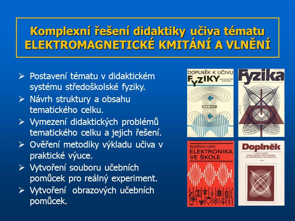 Komplexní řešení didaktiky učiva tématu ELEKTROMAGNETICKÉ KMITÁNÍ A VLNĚNÍ