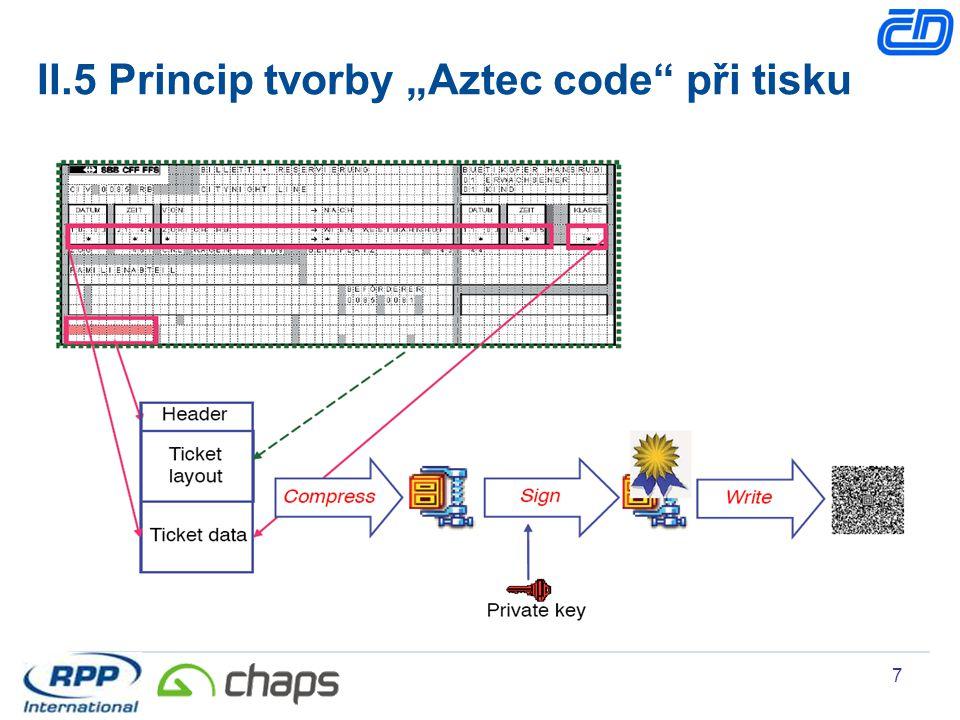"II.5 Princip tvorby ""Aztec code při tisku"
