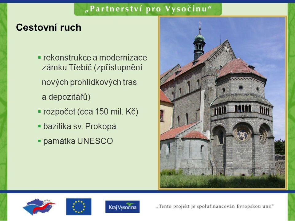 Cestovní ruch rekonstrukce a modernizace zámku Třebíč (zpřístupnění
