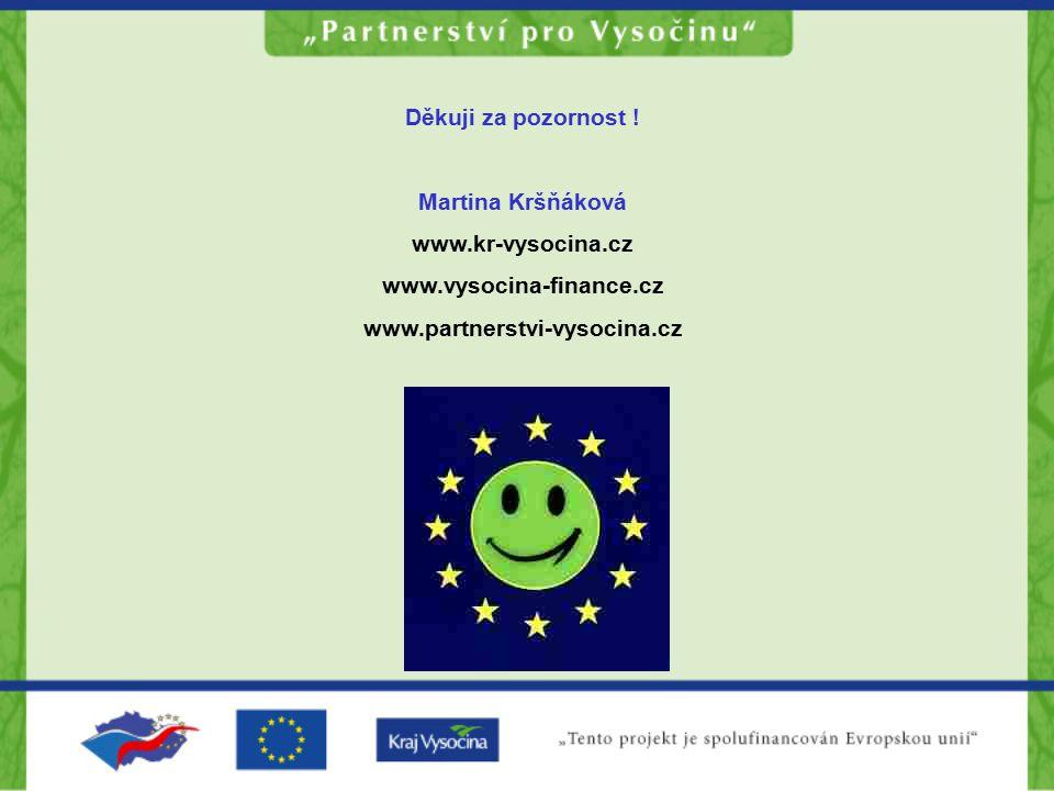 Děkuji za pozornost . Martina Kršňáková. www.kr-vysocina.cz.