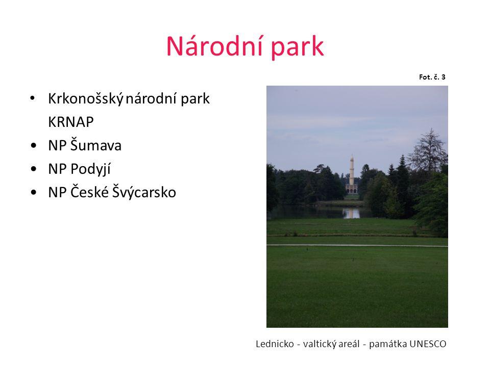 Národní park Krkonošský národní park KRNAP NP Šumava NP Podyjí
