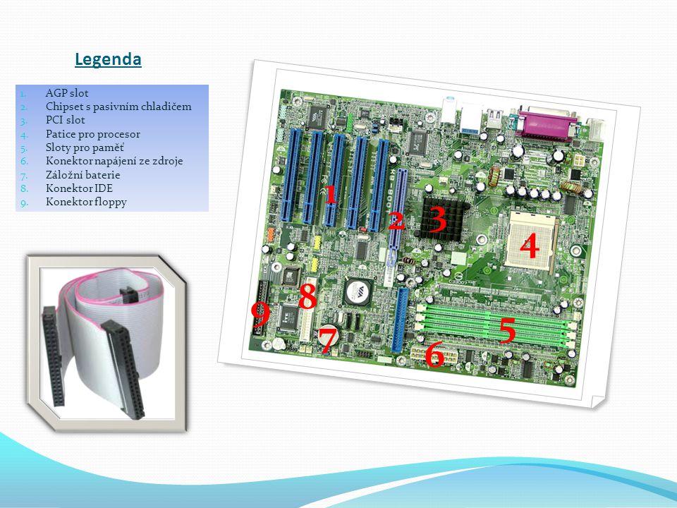 1 3 2 4 8 9 5 7 6 Legenda AGP slot Chipset s pasivním chladičem