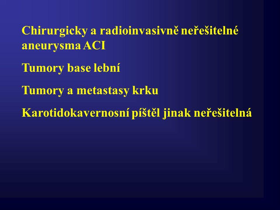 Chirurgicky a radioinvasivně neřešitelné aneurysma ACI
