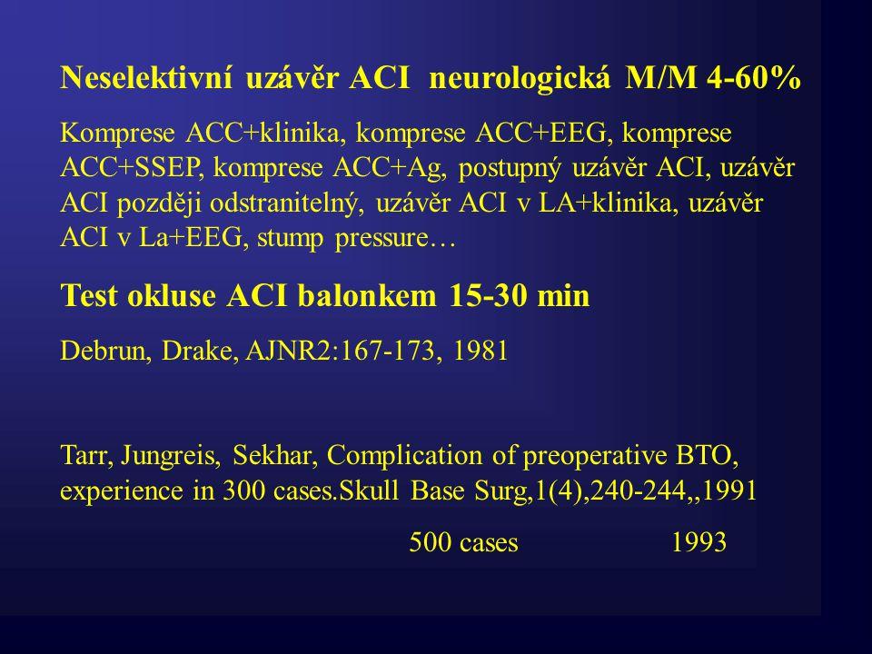 Neselektivní uzávěr ACI neurologická M/M 4-60%