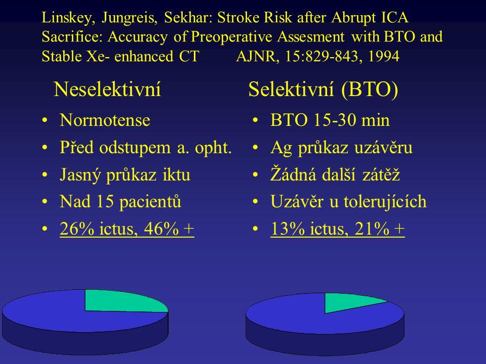 Neselektivní Selektivní (BTO)