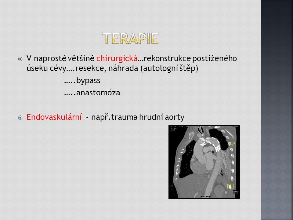 V naprosté většině chirurgická…rekonstrukce postiženého úseku cévy…