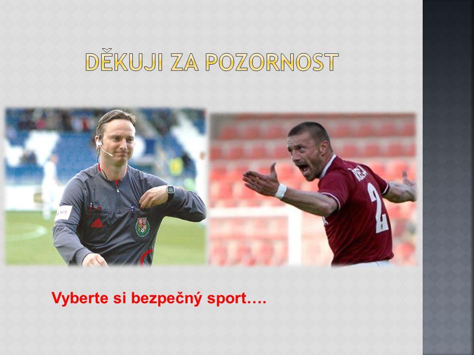 Děkuji za pozornost Vyberte si bezpečný sport….