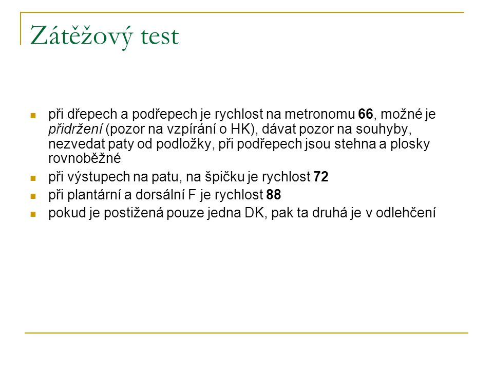 Zátěžový test