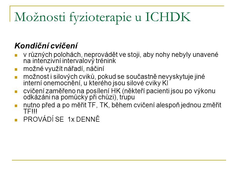 Možnosti fyzioterapie u ICHDK