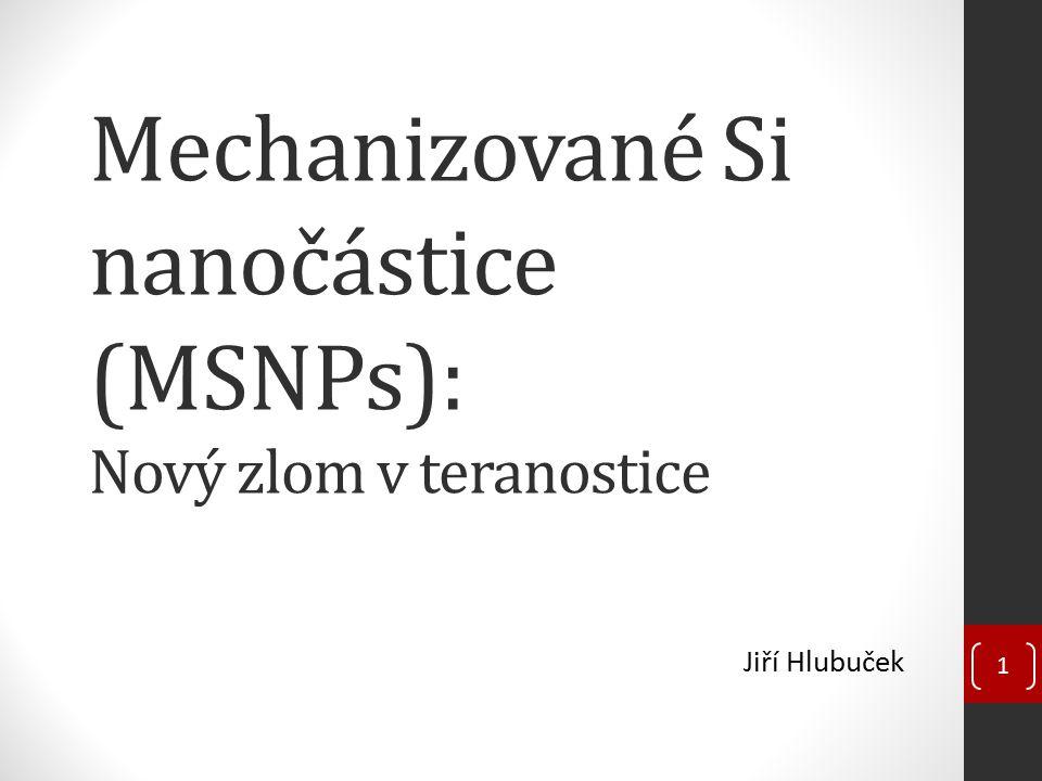 Mechanizované Si nanočástice (MSNPs): Nový zlom v teranostice