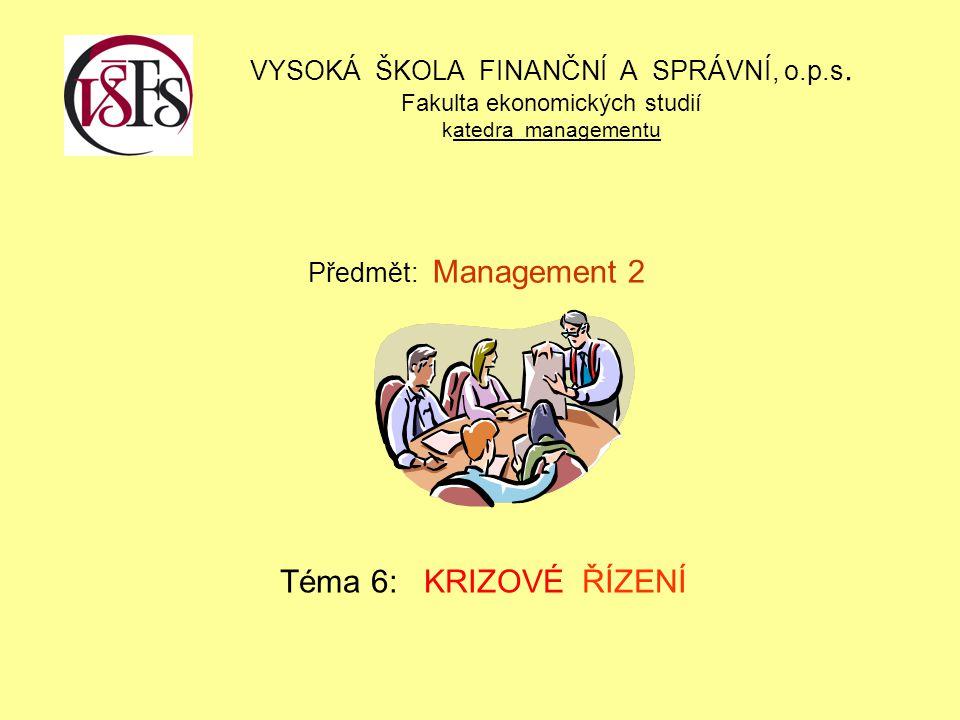 VYSOKÁ ŠKOLA FINANČNÍ A SPRÁVNÍ, o. p. s