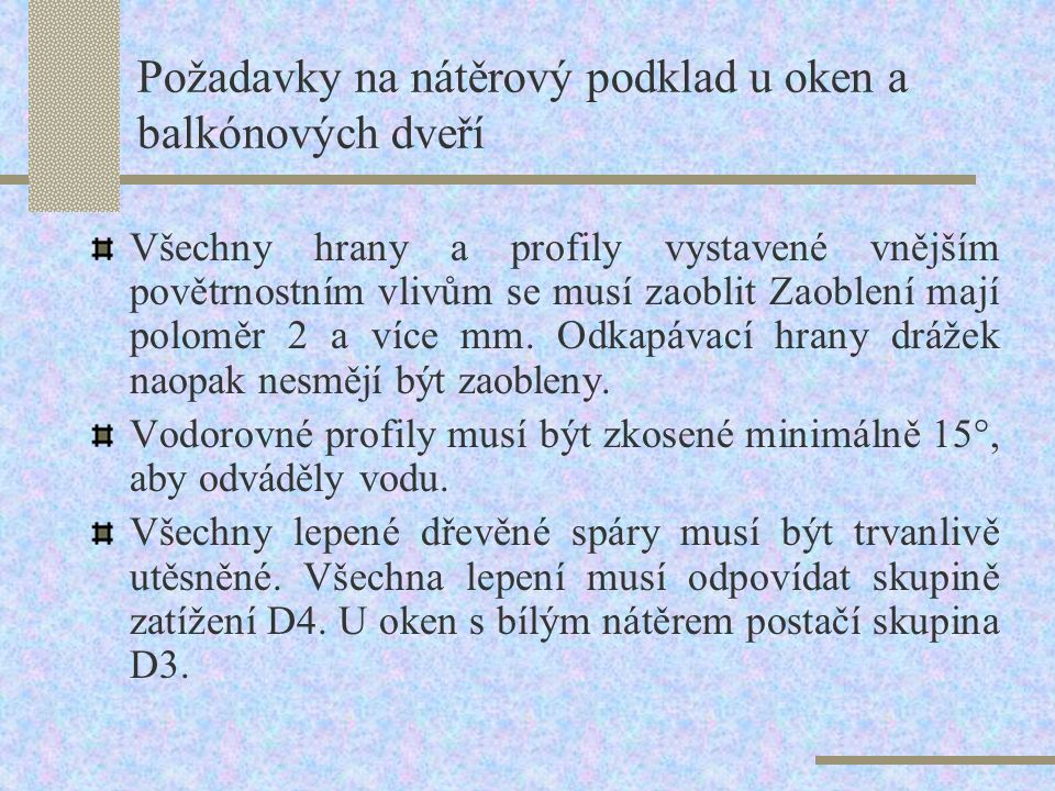 Požadavky na nátěrový podklad u oken a balkónových dveří